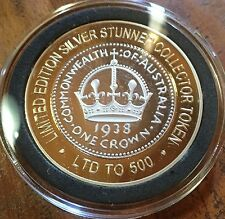 # Crown 1938 SILVER STUNNER COIN LIMITED Edition Australian Silver & Gold