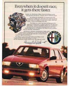 1987 Alfa Romeo Milano Red 4-door Sedan Vintage Ad