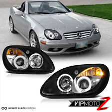 New Pair LH+RH Dual Halo Projector Black Headlight Lamps 98-2004 R170 SLK M-BENZ