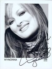 Wynonna Judd autographed 8 x 10 black & white photo signed autograph country