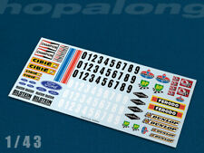 Scalextric/Slot Car 1/43 Waterslide Decals (with white print). ft006w