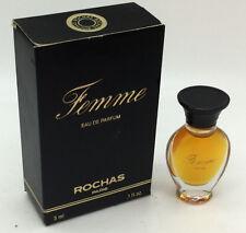 Femme by Rochas Eau de Parfum Mini Splash for Women  0.1 Ounces - 3ml
