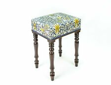 More details for mahogany stool with arts & crafts upholstery antique georgian 1820s