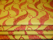 D'ARCY  FABRIC GOLD AND RED LEAF LUXURIOUS MADE TO MEASURE ROMAN BLIND