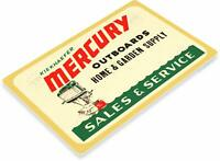 Mercury Outboard Motors Marina Service Boating Rustic Retro Tin Metal Sign