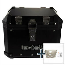 Lextek Aluminium Top Box 33L with Mounting Plate for BMW F800 R (08-15) Black