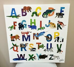 """Oopsy Daisy Too The World of Eric Carle A-Z Boys Canvas Wall Art 21""""x21"""""""