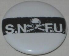 "1980's ""S.N.F.U."" Tour Pin #1 Approx 3/4"""