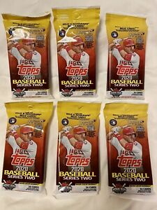 2020 Topps Series 2 Baseball Factory Sealed JUMBO FAT PACK-34 Cards!
