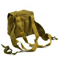 Genuine Soviet Russian child gas mask canvas pouch bag backpack