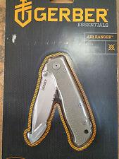 GERBER AIR RANGER LINERLOCK GREY SERRATED KNIFE NEW