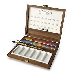 Sennelier l'Aquarelle Extra Fine Watercolor Walnut Box Set N131614