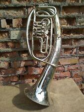 Brass Horn Musical Instrument Vintage Original USSR