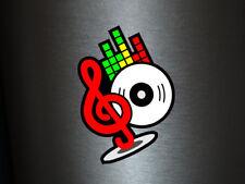 1 x Aufkleber Musiknote Note Schallplatte LP DJ Disco Equalizer Sticker Tuning