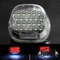 LED Rear Clear Tail Lights Running Brake Lamps For Harley Dyna Sportster XL 1200