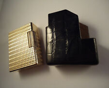 S. T. Dupont Line 1 Lighter - Gold Plated - Fitted Leather Case - Serviced