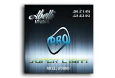 Abelli Studio Pro Guitarra Eléctrica Cuerdas Set De 6 Nickel Wound, Super Light