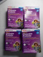 CVS Health Children's Chewable Probiotic Tablets Grape 1.5 Bill, 180ct Exp 02/21