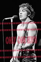 "THE BOSS/""/"" BRUCE SPRINGSTEEN 1981 Photo /""LIVE IN CONCERT/"" 002 UNSEEN"