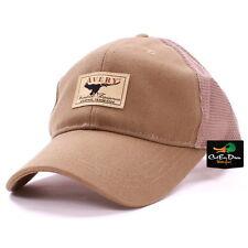 AVERY GREENHEAD GEAR GHG WATERFOWL EQUIPMENT LOGO TAN CANVAS MESH BACK CAP HAT