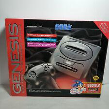 Sega Genesis Model 2 System Console  In Box W/ Sonic 2.