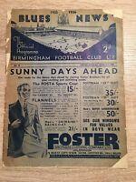 Birmingham v Sunderland 1935/36