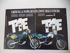 advertising Pubblicità 1987 MOTO CAGIVA T4 E 350/500