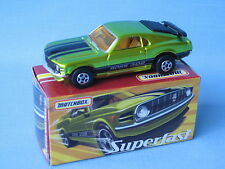 Matchbox 1970 Ford Boss Mustang Green Toy Model Car 75mm Boxed Retro USA 70's
