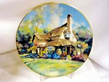 Mib W Coa The Periwinkle Tea Rooms Collector Plate Marty Bell English Country