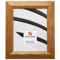 """Craig Frames Colonial Wiltshire 151, 1.8"""" Honey  Brown Wood Picture Frame"""