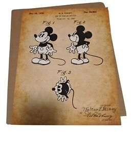 Mickey Mouse 1930 Patent Print - Wall Decor Disney Vintage Art Poster - Unframed