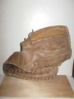 "Vintage George A. Reach RHT 12"" Leather Baseball Glove M98 Hand Lasted"