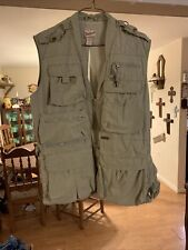 Men's Woolrich Hunting, Fishing, Or Photographer Vest Khaki Size Large
