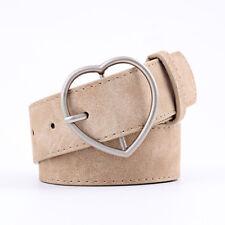 Women's Belts Heart Buckle Belt Jeans Dress High Quality Waistband New Stylish