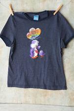 Vtg Care Bears Purple Bear Rainbow Balloon Gray Jrs Babydoll Soft T-Shirt Large