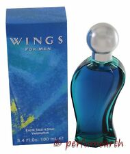 WINGS 3.4 OZ EDT SPRAY FOR MEN NEW IN A BOX BY GIORGIO BEVERLY