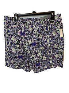 Talbots Shorts women's Size 12 Purple Pink Pockets