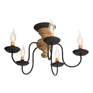 Irvin's Country Tinware Thorndale Ceiling Light in Pearwood