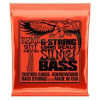 1 Set pack Ernie Ball 2838 6 String Slinky Bass Guitar Strings 32-130 Long Scale