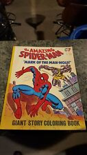 Vintage Marvel Spider-Man Giant Coloring Book Mark Of The Man-Wolf 1978 Comics