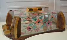 Boite  A BISCUITS ou SUCRE années 1950 bois et verre…