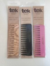 "Tek Wooden Hair Comb Hand Made in Italy U PICK Color 5""x2"" Anti Static Detangle"