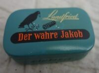 "altes Blechdose Kautabak Landfried ""Der wahre Jakob"""