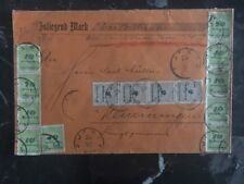 1923 Germany Inflation cover to Memmingen Wax Seals On The Back