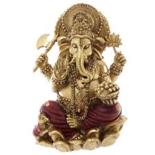 GANESH ROUGE ET OR STATUE SCULPTURE 16 cms
