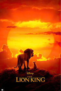 "The Lion King - Disney Movie Poster (Teaser - Mufasa & Simba) (Size: 24 X 36"")"