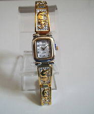 DESIGNER SILVER & GOLD FINISH WOMAN'S FASHION ELEPHANT WATCH