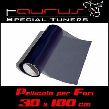 Pellicola fari 30x100 fanali fumè SCURA nera anteriori posteriori  fendinebbia S