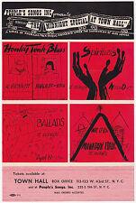 Orig. 1947 BIG BILL BROONZY Memphis Slim SONNY BOY WILLIAMSON Concert Handbill