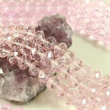 36 pcs 12mm Chinese Crystal Glass Beads Faceted Rondelle Rose Quartz Pink
